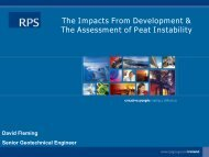 The Impacts From Development & The Assessment of Peat Instability