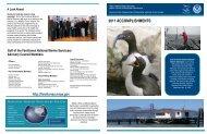 2011 ACCOMPLISHMENTS - National Marine Sanctuaries - NOAA