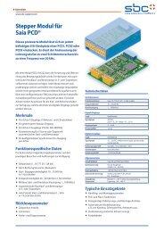 Stepper Modul für Saia PCD®