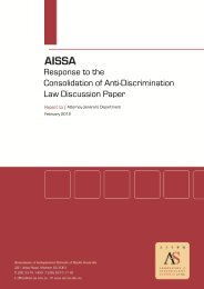 Response to the Consolidation of Anti-Discrimination Law ...