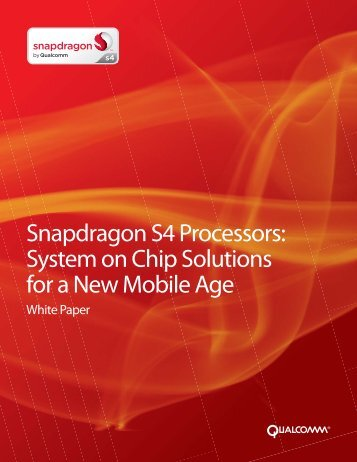 Snapdragon S4 Processors - Qualcomm