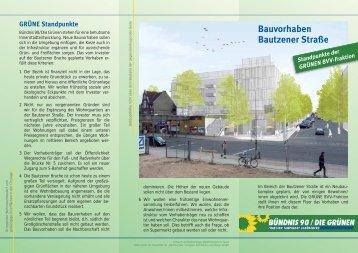 Flyer Bautzener Strasse - Ein Bezirk für Alle