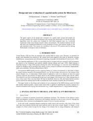 Design and user evaluation of a spatial audio system for blind users
