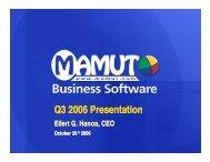 Q3 2006 Presentation - Mamut