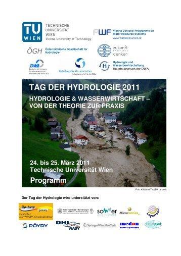 detaillierte Programm - Tag der Hydrologie 2011 - Technische ...