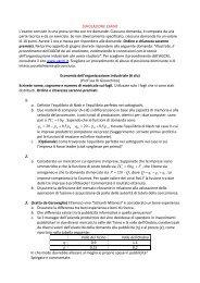 SIMULAZIONE ESAME L'esame consiste in una prova ... - Dipecodir.it