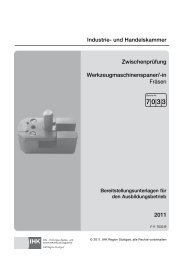 Werkzeugmaschinenspaner - IHK Region Stuttgart - Ihks