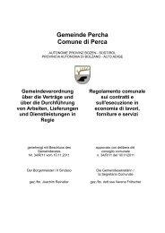Gemeinde Percha Comune di Perca