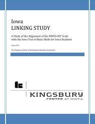 Microsoft Word - Iowa Linking Study August 2010