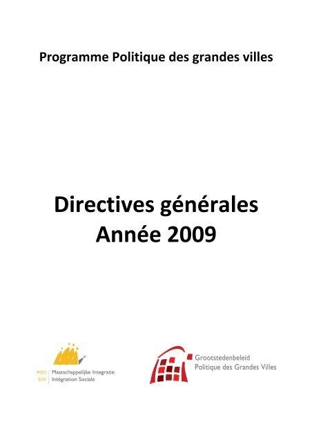 Directives Contrat ville durable