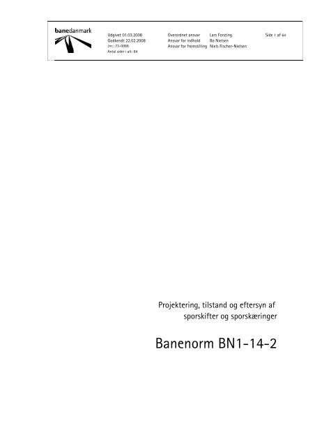Banenorm BN1-14-2 - Banedanmark