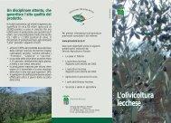 L'olivicoltura lecchese L'olivicoltura lecchese - Provincia di Lecco