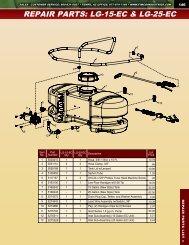 REPAIR PARTS: LG-15-EC & LG-25-EC - FIMCO Industries