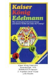Kaiser, König, Edelmann Ravensburger, 1976 ... - Forum Mortsel