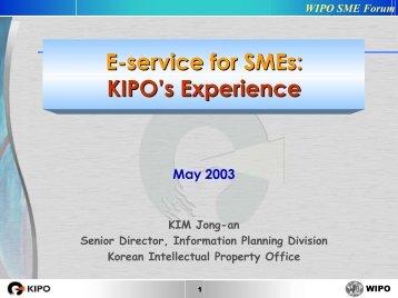E-Service for SMEs - World Intellectual Property Organization