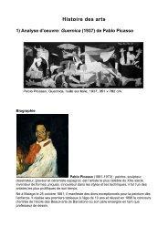 Histoire des arts - Mission TICE