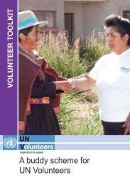 A buddy scheme for UN Volunteers - United Nations Volunteers