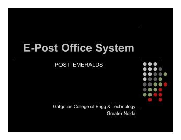 E-Post Office System - Rajarshi