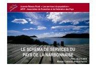 le schema de services du pays de la narbonnaise - Réseau Rural ...