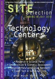 Technology Centers - Site Selection Online