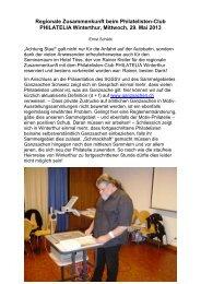 Bericht der Zusammenkunft mit Fotos - Schweizerischer ...