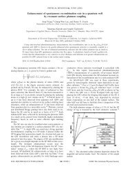 Enhancement of spontaneous recombination rate in a quantum well ...