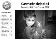 Gemeindebrief 12-2007