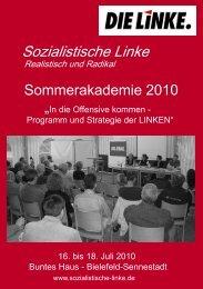 Programm Sommerakademie 2010.indd - DIE LINKE. Ostwestfalen ...