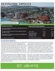 Economic Update June 2013 - City Of St. John's