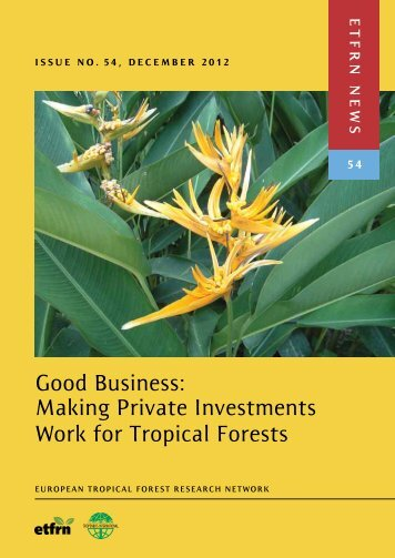 Download the publication - European Tropical Forest Research ...
