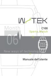 C100 Manuale dell'utente New ways of technology - Digital 2000 Srl