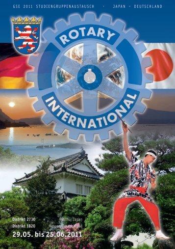 29.05. bis 25.06.2011 - Rotary Distrikt 1820