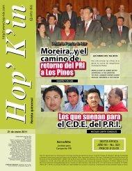 el C.D.E. del P.R.I. Moreira, y el camino de