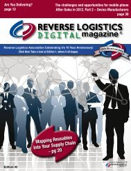 Reverse Logistics Association Celebrating it's 10 Year