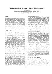 a framework for constraint-based modeling - Computer Science ...