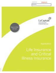 Life Insurance and Critical Illness Insurance