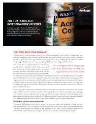The 2012 Data Breach Investigations Report - Verizon Business