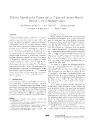 E cient Algorithms for Computing the Triplet and Quartet Distance ...