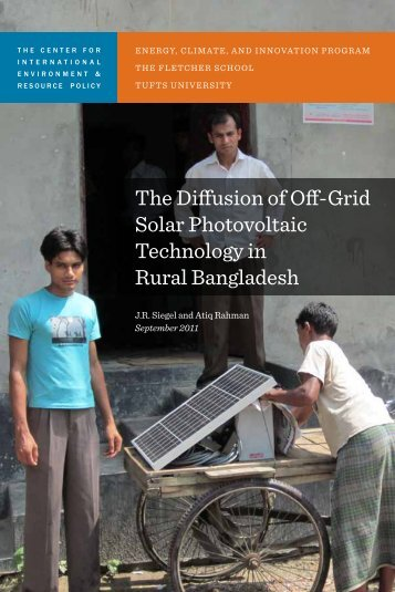 The Diffusion of Off-Grid Solar Photovoltaic Technology in Rural ...