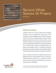 Second White Specks Oil Project, Phase II - Canadian Discovery Ltd.