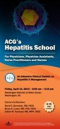 Hepatitis School Brochure