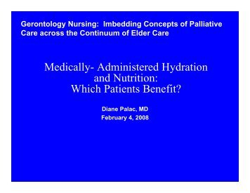 Medically- Administered Hydration and Nutrition - Dartmouth ...
