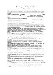 Termo de Cessao de titularidade CNPJ-CPF - GVT