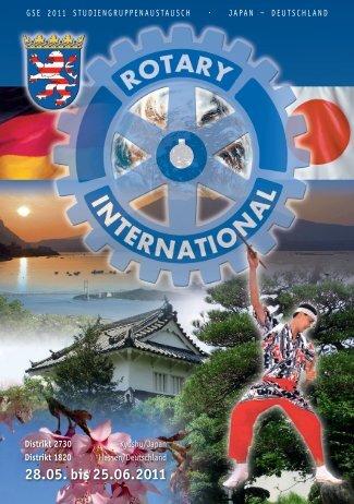 Weitere Informationen entnehmen Sie bitte hier. - Rotary Distrikt 1820