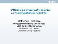 Catherine Peckham - The Coalition for Children Affected by AIDS