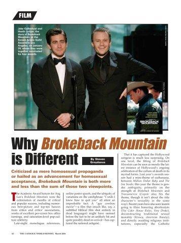 Why Brokeback Mountain
