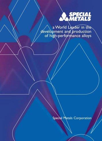 Special Metals..A World Leader - Special Metals Corporation