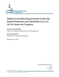 Medical Loss Ratio Requirements Under the Patient Protection and ...