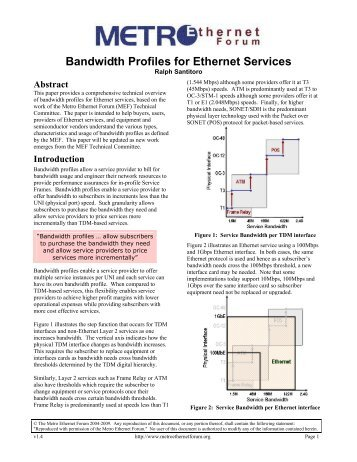 Bandwidth Profiles for Ethernet Services - MEF