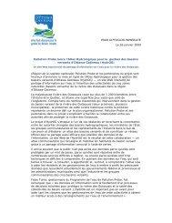 POUR DIFFUSION IMMÉDIATE Le 26 janvier 2009 Pollution Probe ...